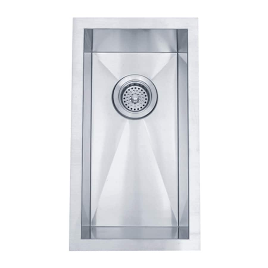 Elements of Design Gourmetier 11-in x 20-in Brushed Nickel Single-Basin Stainless Steel Undermount Residential Kitchen Sink