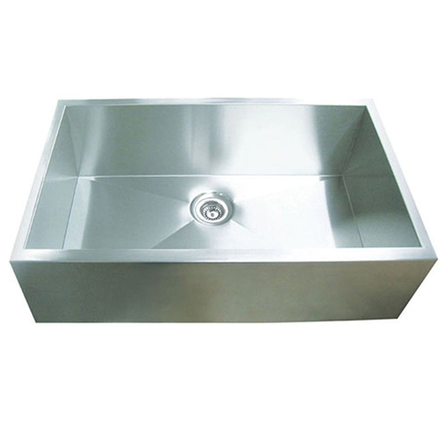 Yosemite Home Decor 32-in x 20.5-in Satin Stainless-Steel Single-Basin Apron Front/Farmhouse Commercial Kitchen Sink