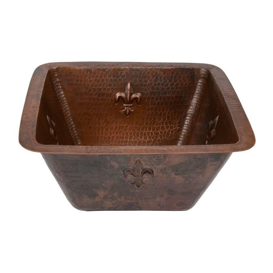 Premier Copper Products Oil-Rubbed Bronze Single Basin Bar Sink