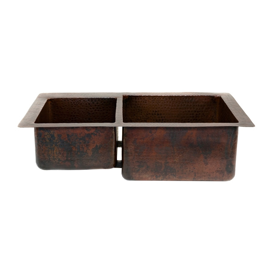 Shop premier copper products 22 in x 33 in oil rubbed - Copper drop in kitchen sink ...