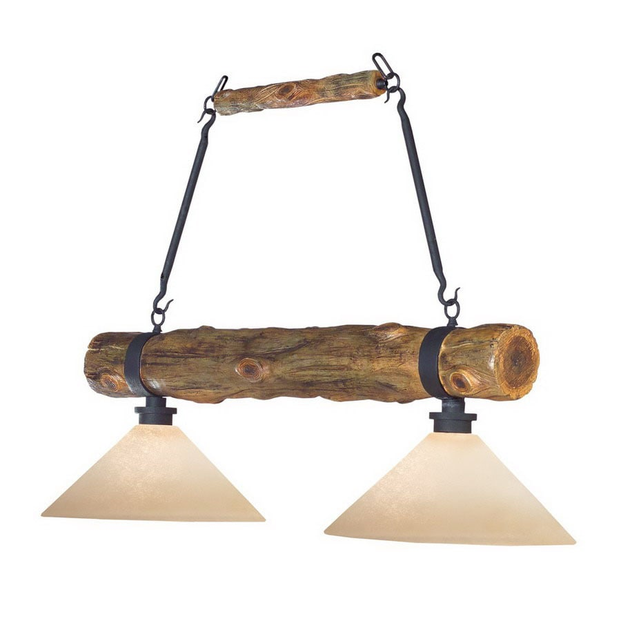 Shadow Mountain Cedar Log Pool Table Lighting