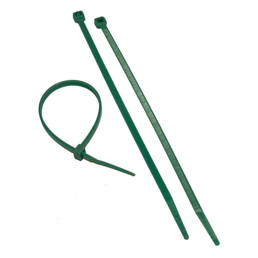Morris Products 100-Pack 8-in Green Nylon Cable Ties