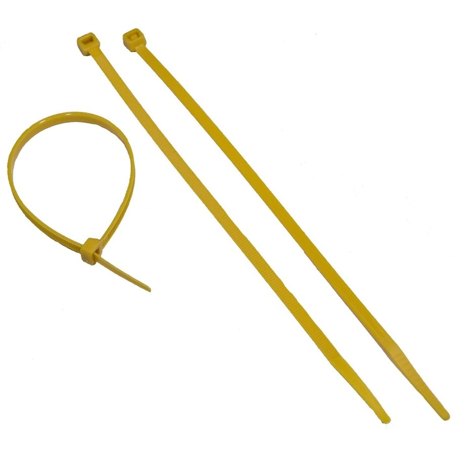 Morris Products 100-Pack 11-in Yellow Nylon Cable Ties
