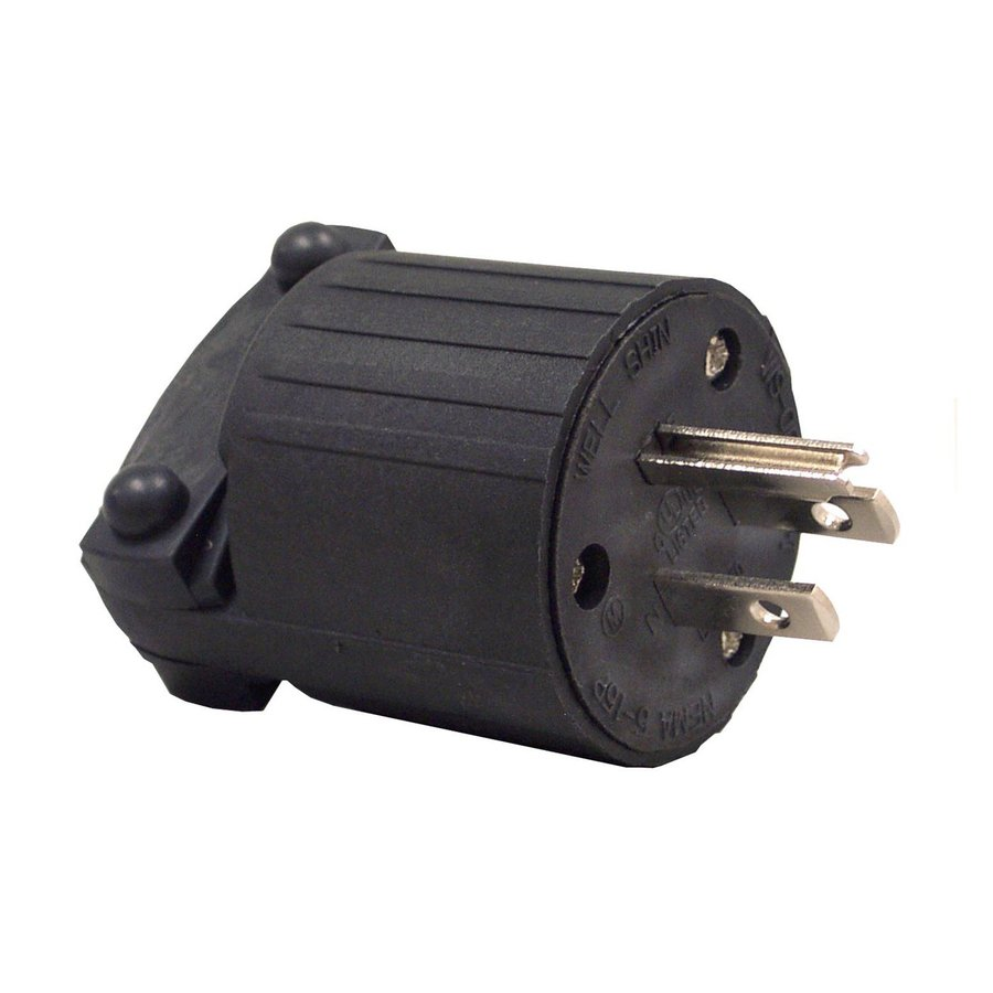 Morris Products 15-Amp 125-Volt Black 3-Wire Grounding Plug