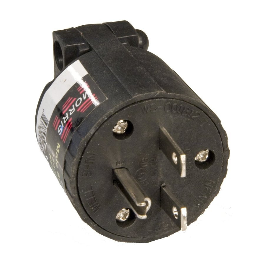Morris Products 15-Amp 250-Volt Black 3-Wire Grounding Plug