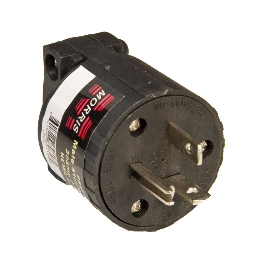 Morris Products 20-Amp 250-Volt Black 3-Wire Grounding Plug
