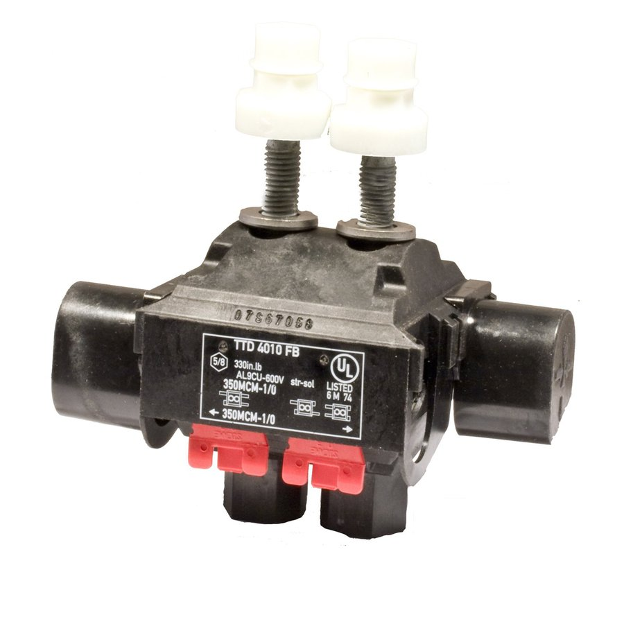 Morris Products 30-Amp 600-Volt Black 2-Wire Connector