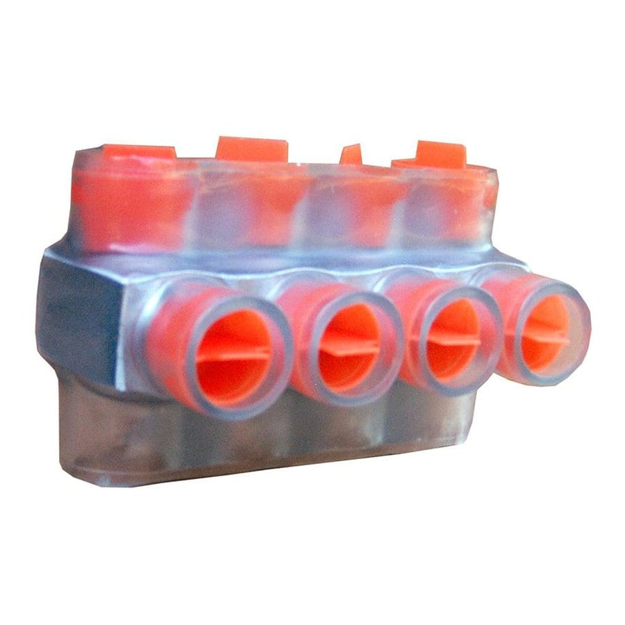 Morris Products 27-Amp 600-Volt Clear/Orange 4-Wire Connector