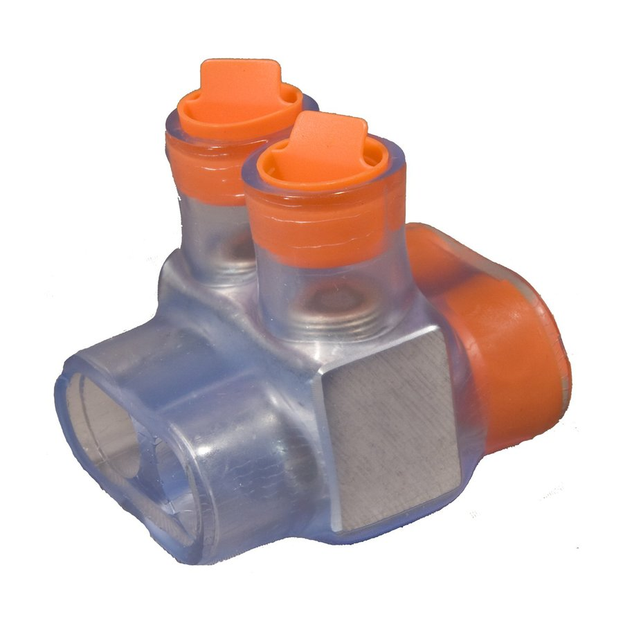 Morris Products 15-Amp 600-Volt Clear/Orange 2-Wire Connector