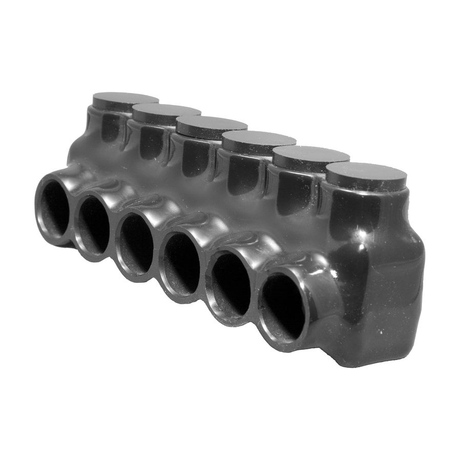 Morris Products 10 Amp 600-Volt Black 6-Wire Connector
