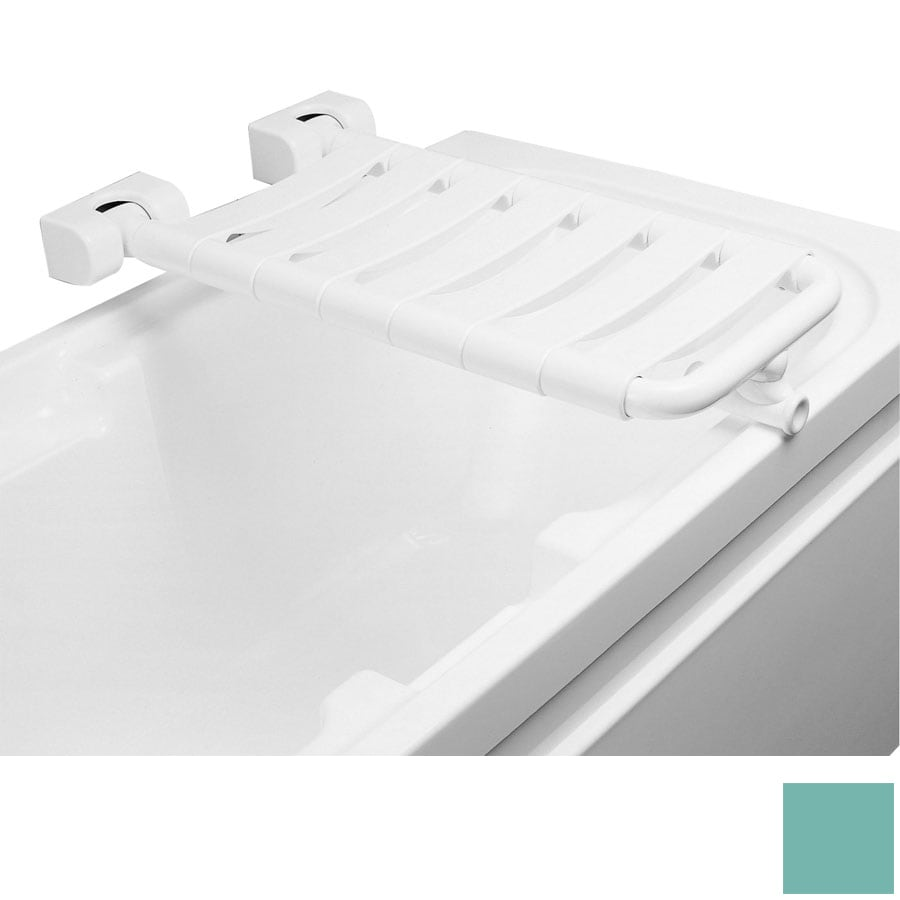 Ponte Giulio USA Glossy Light Green Plastic Wall Mount Shower Seat