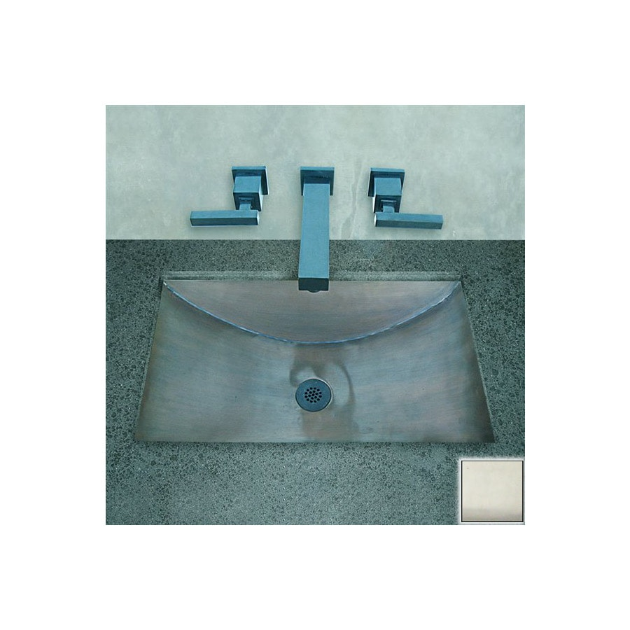 Shop terra acqua santa ynez copper rubbed nickel copper for Rectangular copper bathroom sink