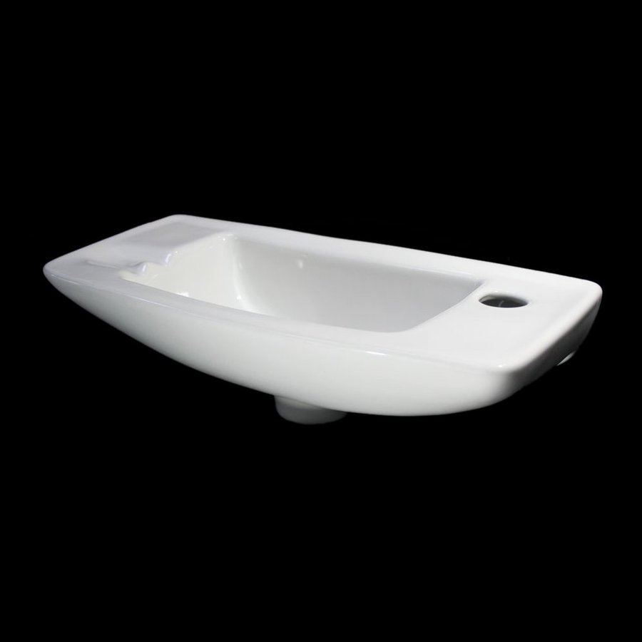 Alfi White Wall-Mount Rectangular Bathroom Sink