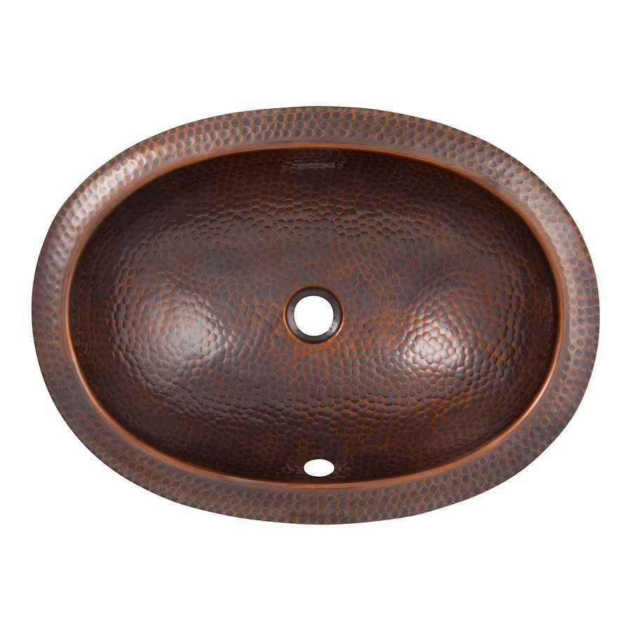 undermount copper bathroom sinks shop the copper factory artisan antique copper undermount 21134