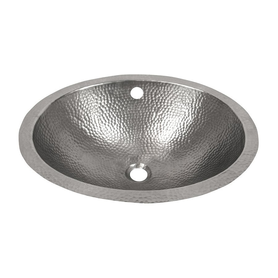 Shop the copper factory artisan satin nickel copper for How to install an undermount bathroom sink