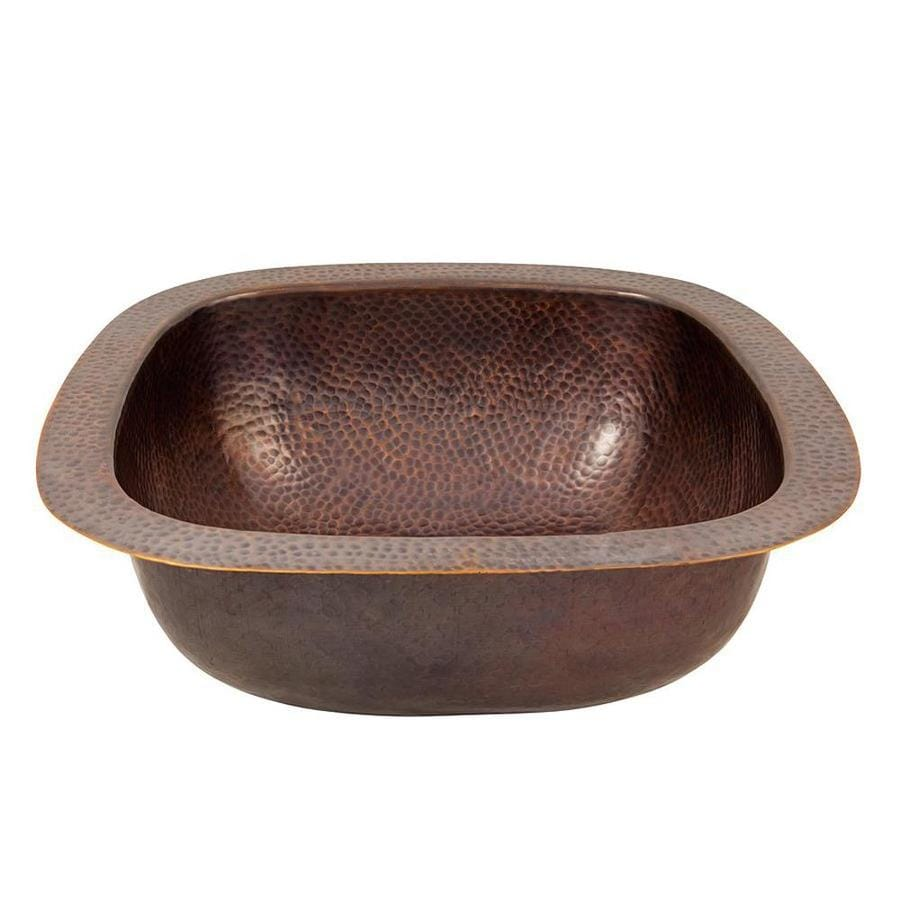 The Copper Factory Artisan Antique Copper Single Basin Copper Residential Prep Sink