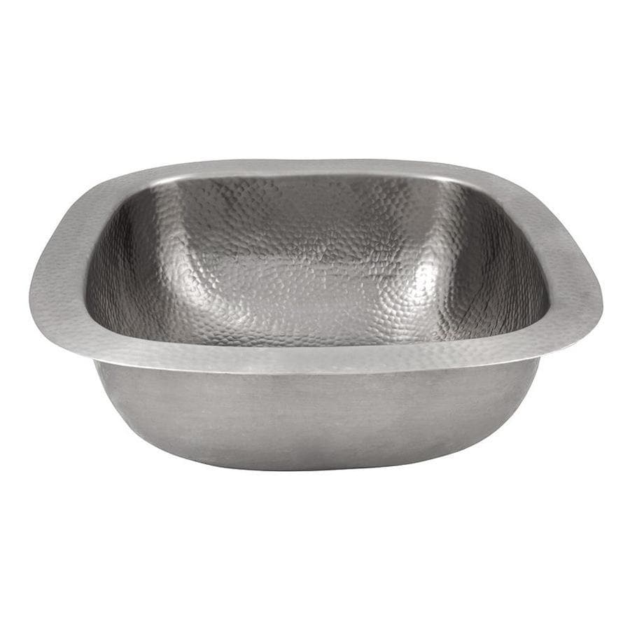 The Copper Factory Artisan Satin Nickel Single Basin Copper Residential Prep Sink