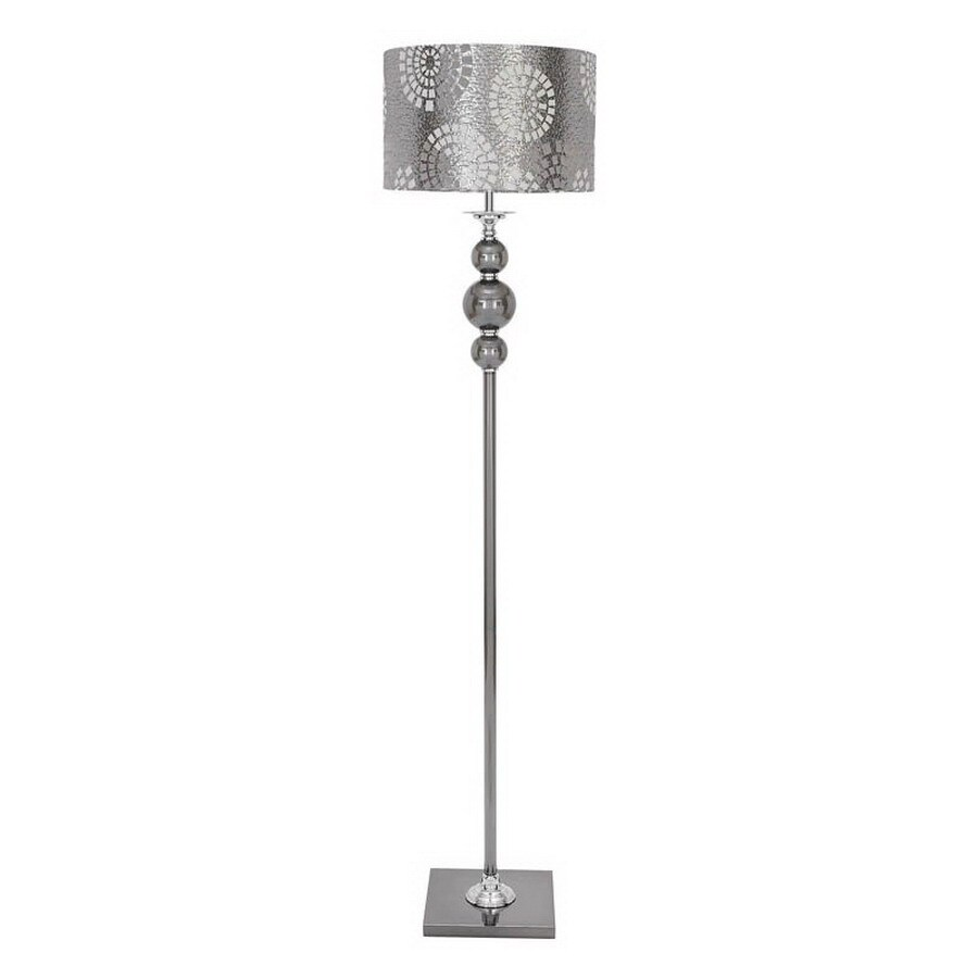 Woodland Imports 65 In Shaded Floor Lamp Indoor With Shade