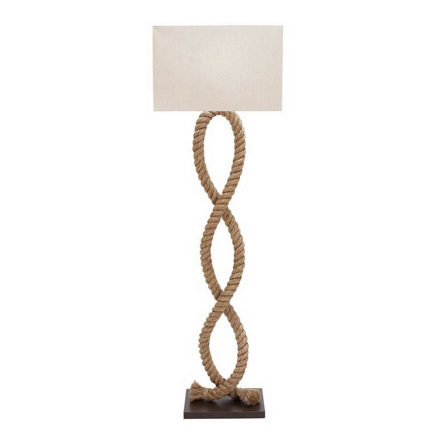 Woodland Imports 63 In Shaded Floor Lamp Indoor With Fabric Shade