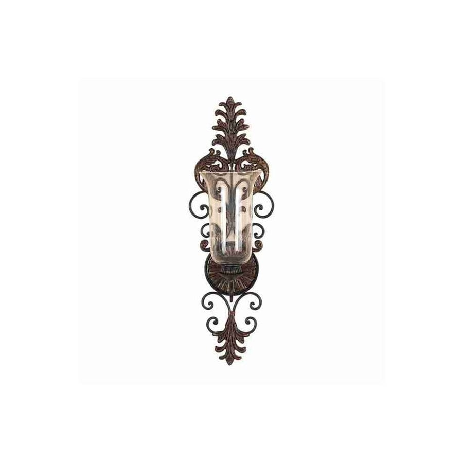 Woodland Imports 1 Candle Deep Brown Metal Sconce Any Occasion Candle Holder