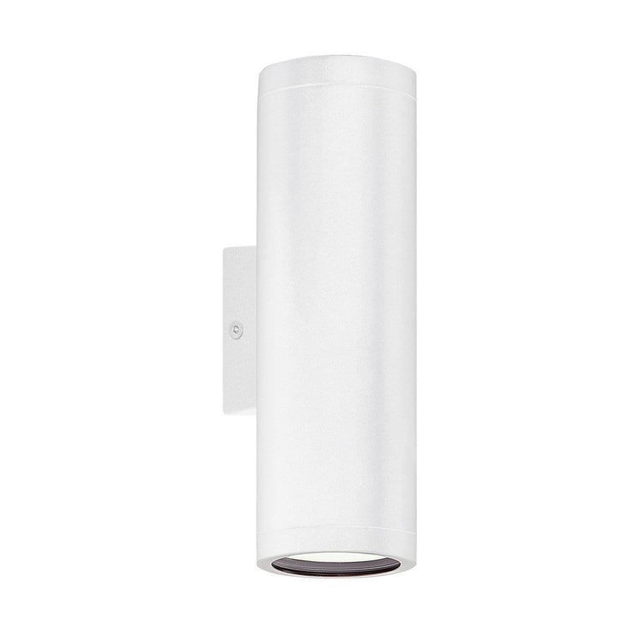 EGLO Riga 7.13-in H White Gu10 Pin Base Outdoor Wall Light