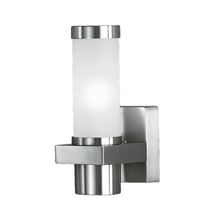 EGLO Konya 9-in H Nickel Outdoor Wall Light