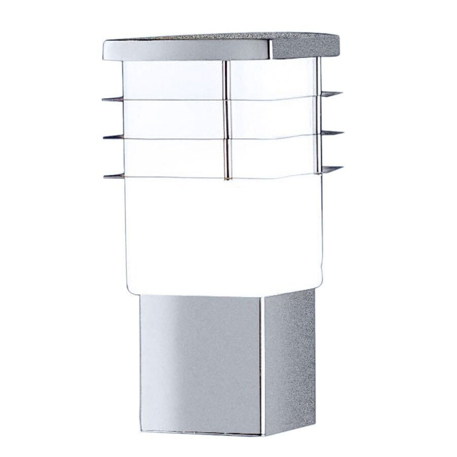 EGLO Calgary 11-in H Stainless-Steel Outdoor Wall Light