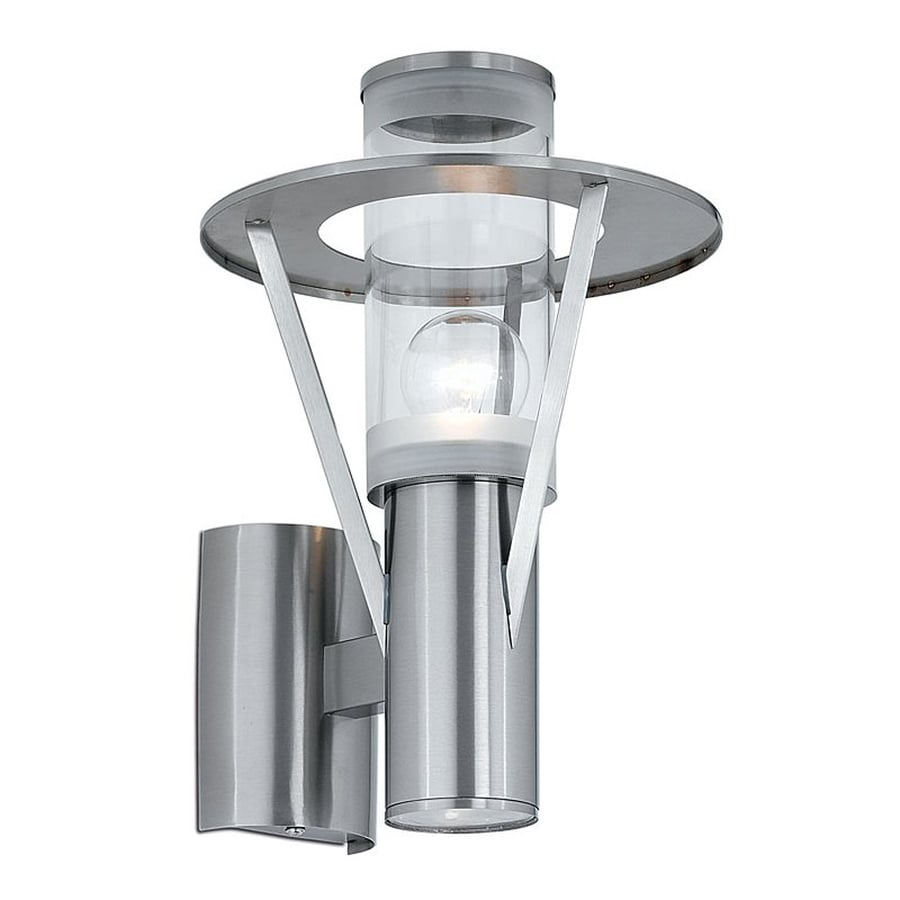 EGLO Belfast 12-in H Stainless-Steel Outdoor Wall Light
