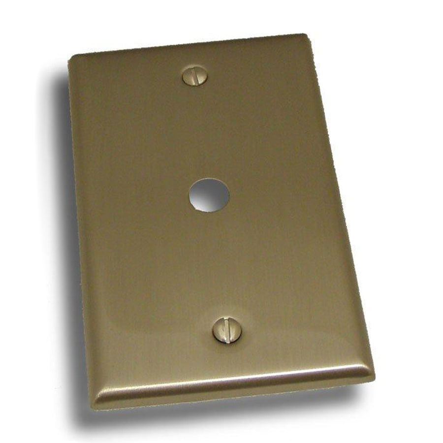 Residential Essentials 1-Gang Satin Nickel Single Round Coaxial Wall Plate