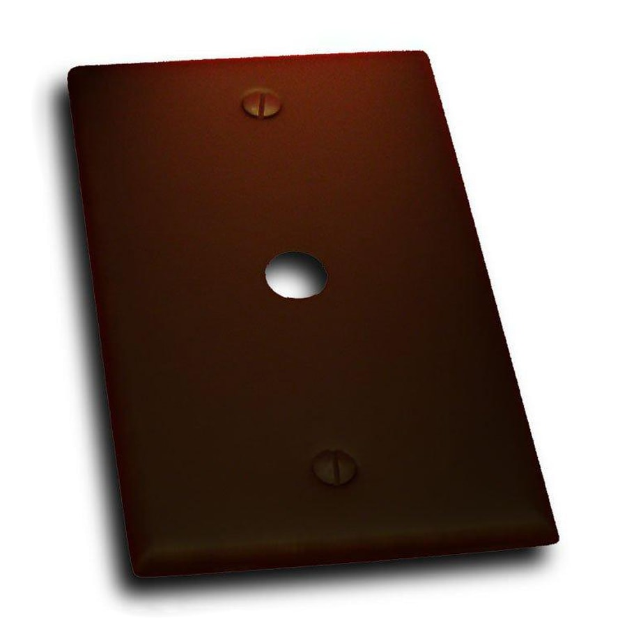 Residential Essentials 1-Gang Venetian Bronze Single Round Coaxial Wall Plate