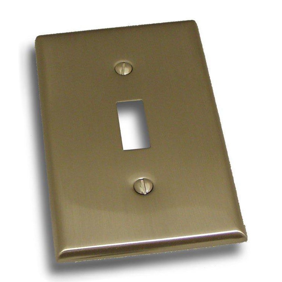 Residential Essentials 1-Gang Satin Nickel Single Toggle Wall Plate