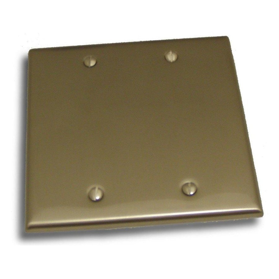 Residential Essentials Satin Nickel Double Blank Wall Plate