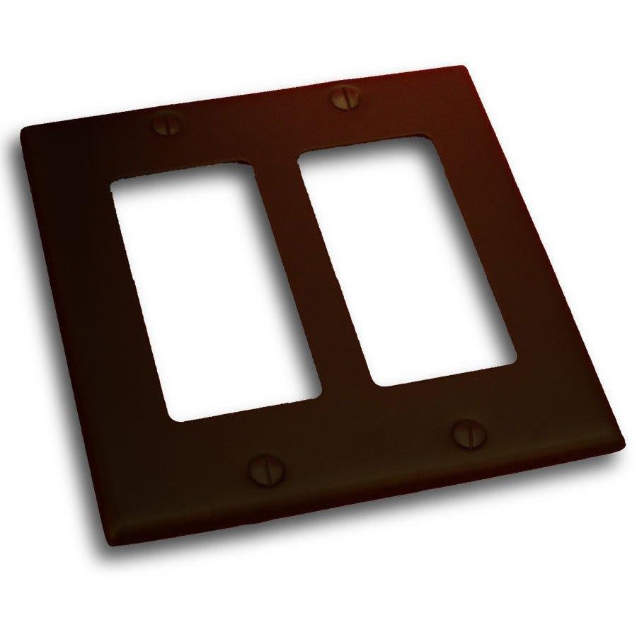 Residential Essentials 2-Gang Venetian Bronze Double Decorator Wall Plate