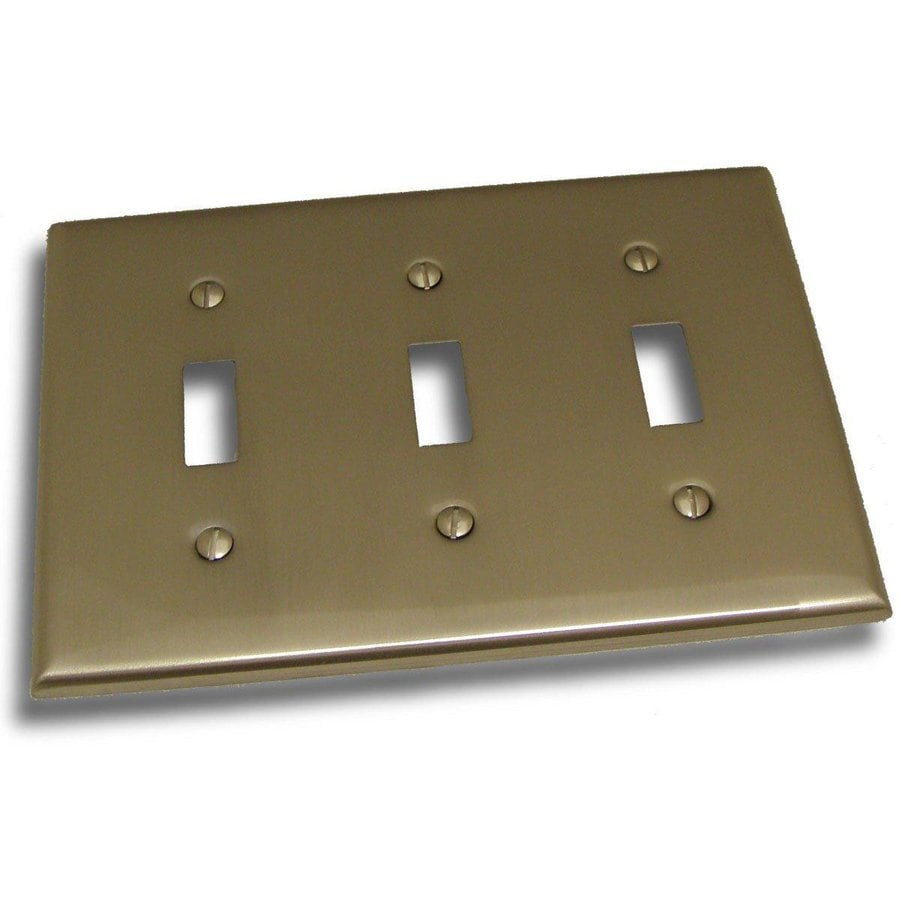 Residential Essentials 3-Gang Satin Nickel Triple Toggle Wall Plate