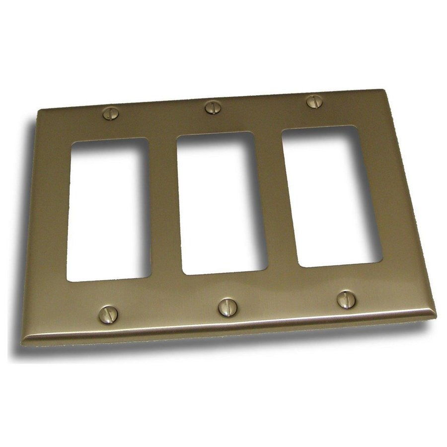 Residential Essentials 3-Gang Satin Nickel Triple Decorator Wall Plate