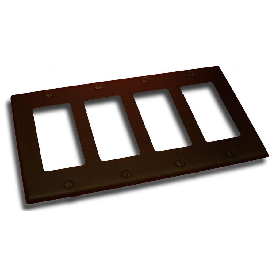 Residential Essentials 4-Gang Venetian Bronze Quad Decorator Wall Plate