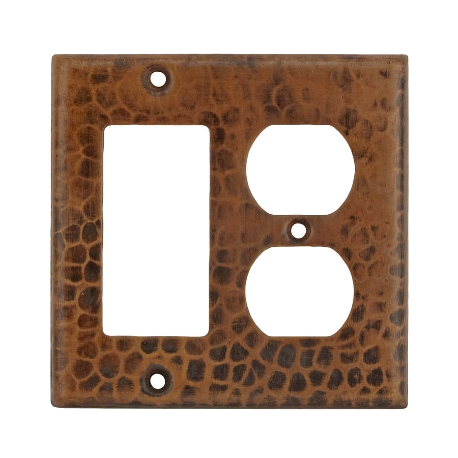 Premier Copper Products 2-Gang Oil-Rubbed Bronze Double Duplex/Decorator Wall Plate