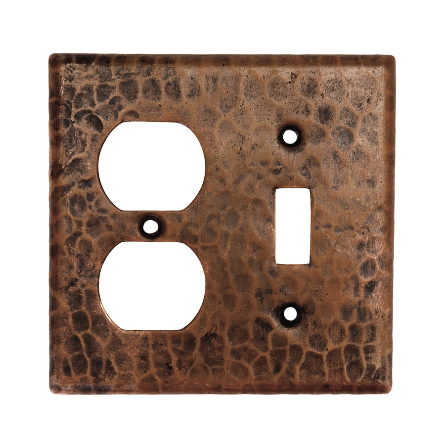 Premier Copper Products 2-Gang Oil-Rubbed Bronze Double Toggle/Duplex Wall Plate