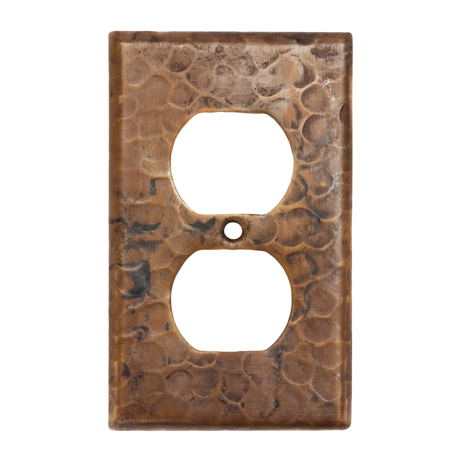 Premier Copper Products 1-Gang Oil-Rubbed Bronze Single Duplex Wall Plate