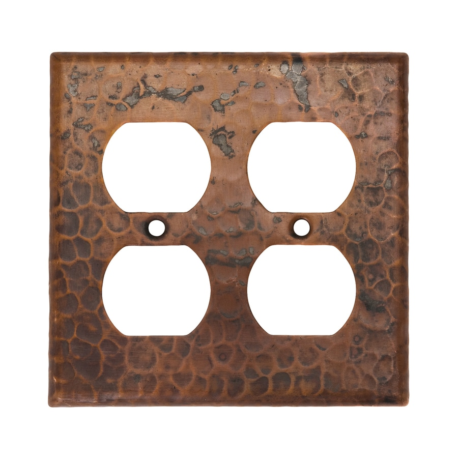 Premier Copper Products 2-Gang Oil-Rubbed Bronze Double Duplex Wall Plate