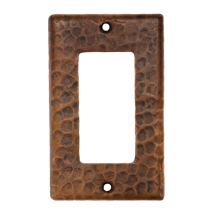 Premier Copper Products 1-Gang Oil-Rubbed Bronze Single Decorator Wall Plate