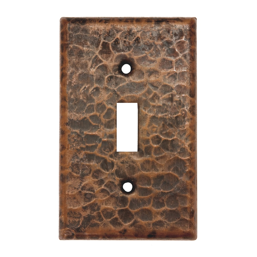 Premier Copper Products 1-Gang Oil-Rubbed Bronze Single Toggle Wall Plate