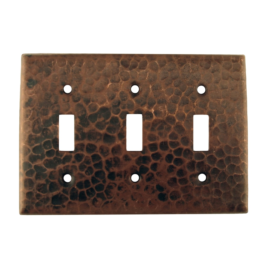 Premier Copper Products 3-Gang Oil-Rubbed Bronze Triple Toggle Wall Plate