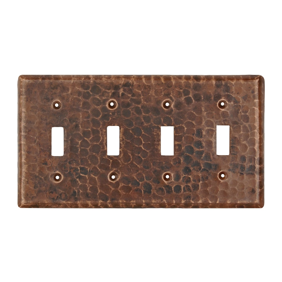 Bronze Switch Plates And Outlet Covers Shop Premier Copper Products 4Gang Oilrubbed Bronze Quad Toggle