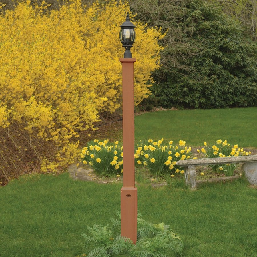 Highwood USA Brockton Toffee 68-in Post Light Pole