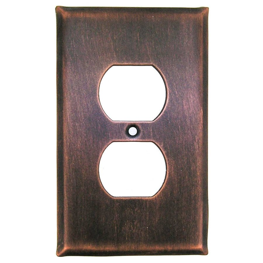 Shop Anne at Home 1-Gang Antique Copper Single Duplex Wall Plate at Lowes.com