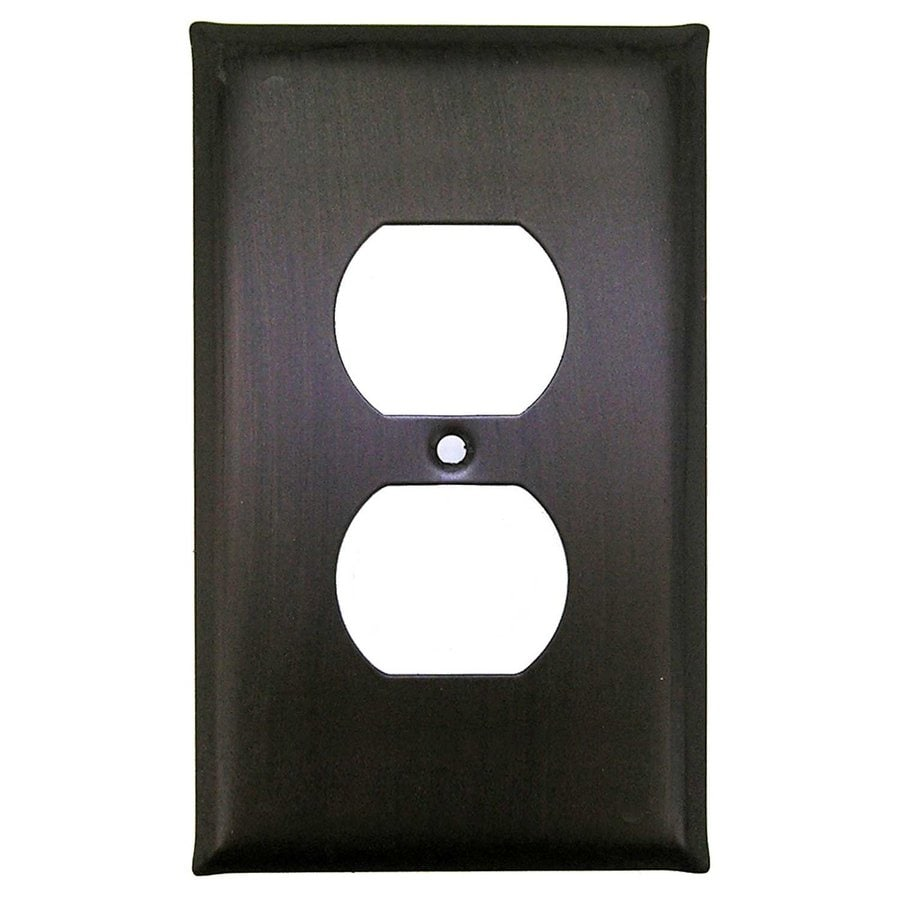 Anne at Home 1-Gang Bronze with Black Wash Single Duplex Wall Plate