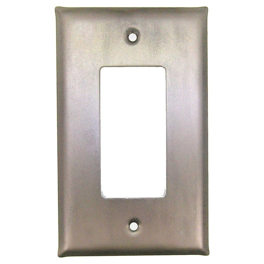 Anne at Home 1-Gang Matte Pewter Single Decorator Wall Plate