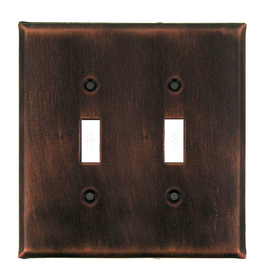 Anne at Home 2-Gang Antique Copper Double Toggle Wall Plate