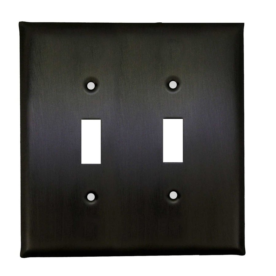 Anne at Home 2-Gang Bronze with Black Wash Double Toggle Wall Plate
